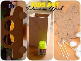painting a wooden pen stand