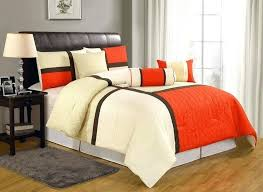 orange and white comforter best images on orange and white comforter set orange and white chevron