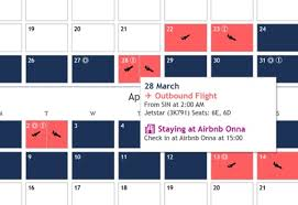 Travel Made Easy With Tableau Calendar View Interworks