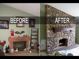 eldorado stone fireplace installation with mantel time lapse read disclaimer in description