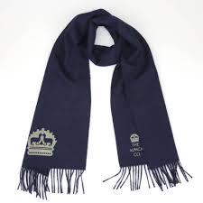 crest scarf in navy
