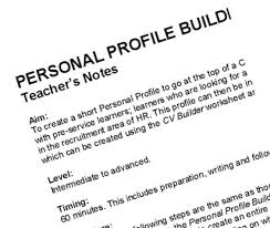 Cv Writing Examples Personal Profile Cv Writing Your Personal Profile 5 Winning Personal