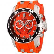 invicta pro diver chronograph orange men s watch 6980 pro diver invicta pro diver chronograph orange men s watch 6980