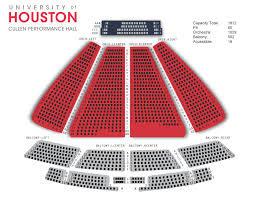 Cullen Performance Hall Seating Chart Cph Buy Tickets University Of Houston