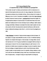 comparative essay heart of darkness vs apocalyspe now  page 1 zoom in