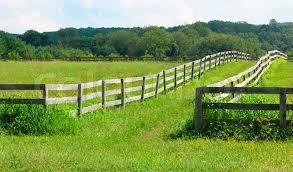 wooden farm fence. Ancient Wooden Fence On The Farm, Stock Photo Farm M