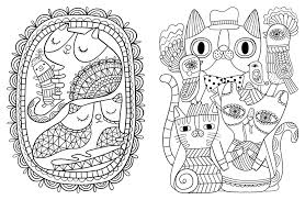 Amazon Com Posh Adult Coloring Book Cats Kittens For Comfort