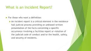 Definition Incident Report Magdalene Project Org