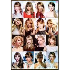 โปสเตอร ทรงผมผหญง Womens Taylor Swift Hairstyles Poster