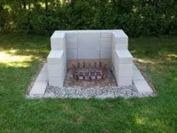 cinder block fire pit you