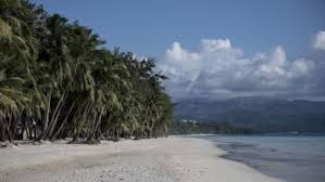 this general shot shows a beach on the philippine island of boracay on october 25