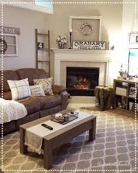 living rooms with brown furniture. Cozy Living Room, Brown Couch Decor, Ladder, Winter Decor Change Wall Color Tp A Subtle Blue ❤️ Rooms With Furniture Pinterest
