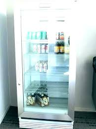 glass front refrigerator clear door fridge residential commercial grade with freezer