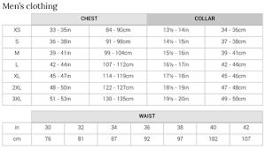 Mens Chest Size Chart Conversion 55 Exhaustive Measurements For Clothes Sizes Chart