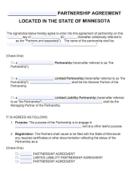 Partnership Agreement Template Free Download Free Minnesota Partnership Agreement Template PDF Word 17
