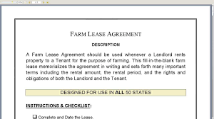 Farm Lease Agreement - Youtube