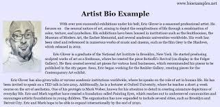 Sample Resume Real Estate Bio Examples New Artist Bio Example Bio