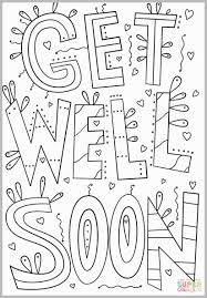 Get Well Soon Cards Printables Get Well Soon Card Coloring Pages Unique Get Well Coloring Cards