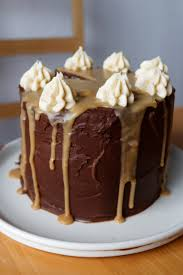 salted caramel chocolate layer cake