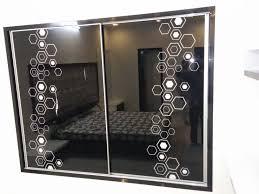 black glass door design
