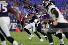 Bennett Jackson of the Baltimore Ravens runs back an interception in...  News Photo - Getty Images