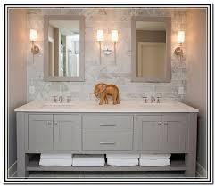 grey vanity in bathroom