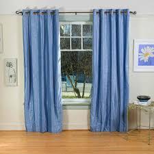 ... Blue Grommet Curtains Blue Grommet Blackout Curtains Light Blue Ring  Grommet Top Velvet Curtain ...