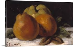 >apple pear and orange c 1871 72 wall art canvas prints framed  apple pear and orange c 1871 72 canvas