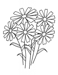 Spring Flower Coloring Pages Avaboard Within Flowers