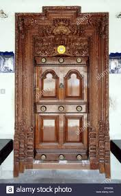 door of old house madras chennai tamil nadu india stock image