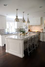 White Kitchens Dark Floors 17 Best Ideas About White Kitchen Island On Pinterest White