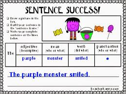 Sentence Success Sentence Writing Strategy Freebie Teacher Karma