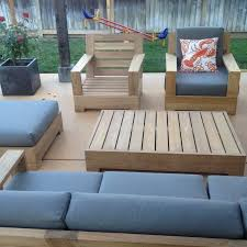 wholeteak 4pc teak patio sofa set