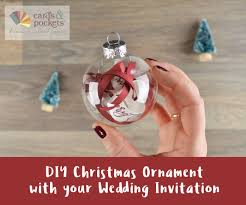 How To Make A Diy Christmas Ornament With Your Wedding