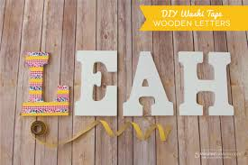 awesome diy wooden letter d i y washi tape 5 minute for mom photo collage letterbox nursery plan