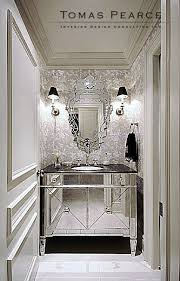 mirrored furniture room ideas. traditional powder room mirrored furniture ideas