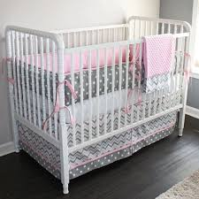 full size of interior chevron in pink grey cot bedding set petit outstanding and 13