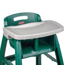 rubbermaid fg781588plat platinum restaurant high chair tray with tray for restaurant high chair tray for restaurant