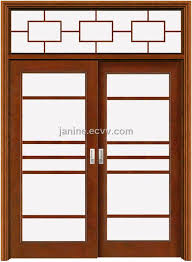 attractive wooden glass sliding doors wood glass doors