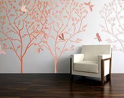 blossoming tree stencil