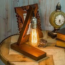 edison table lamp vintage home lighting. loft vintage holder edison bulb table lamp wood base light brown desk no dimmer bar home decoration lighting i