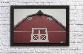 alberta canada red barn with white trim wall decor frame