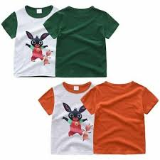 <b>Bing</b> Bunny Kids Girls Boys T-shirt <b>Summer</b> Short Sleeved Tops ...
