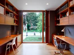 wall mounted home office. Charcoal Grey Wall Color With Mounted Desk And Modern Chair For Small Professional Home Office Design Layout Sleek Sliding Door
