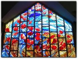 contemporary stained glass contemporary stained glass poppy memorial window st johns school chapel surrey by glass
