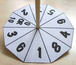 Rotating Numbers Ten Sided Number Wheels