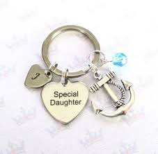 personalised anchor keyring for special daughter daughter birthday special daughter keychain daughter gift