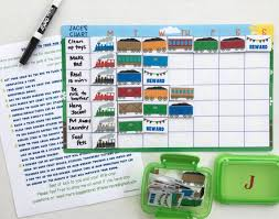 How To Make A Sticker Chart Train Weekly Chart Dry Erase Task Chart Sticker Chart Etsy