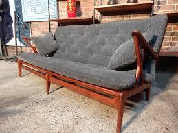 teak retro furniture. Perfect Furniture 1950u0027s Danish Designer 3 Seater Sofa With Teak Retro Furniture O