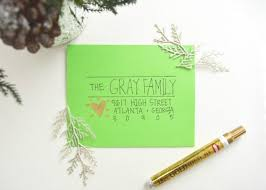 How To Address A Christmas Card 11 Creative Ways To Address Christmas Cards Christmas